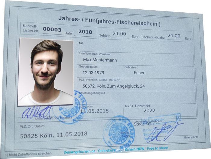 Fischereischein NRW DeinAngelschein.de